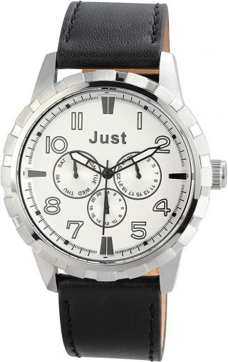 Just Chronograph Herren Uhr Schwarz Silber 48 - S4997sl - Bk Armbanduhr Bild