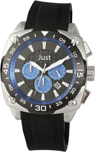 Just Chronograph Silikonarmband Herrenuhr 48 - Stg2373 - Dbl Armbanduhr Bild