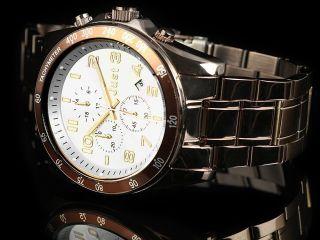 Just Uhr Chronograph Herrenuhr 48 - S1230br - Sl Armbanduhr Braun Weiß Bild