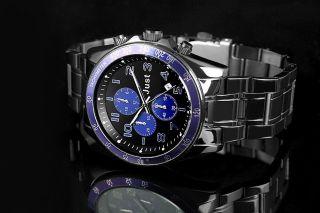 Just Uhr Chronograph Herrenuhr 48 - S1230bk - Bl Armbanduhr Schwarz Blau Bild
