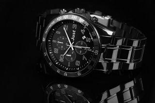 Just Uhr Chronograph Herrenuhr 48 - S1230bk - Bk Armbanduhr Schwarz Bild