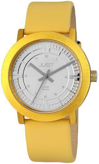 Just Uhr Unisex Gelb 48 - S9627 - Yl Lederarmband Aluminiumgehäuse Bild