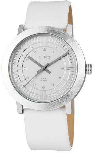 Just Uhr Unisex Weiß 48 - S9627 - Wh Lederarmband Aluminiumgehäuse Bild