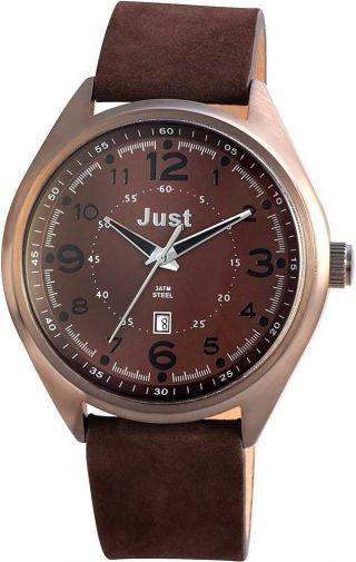 Just Herrenuhr Uhr Armbanduhr 48 - S1231 - Br Dunkelbraun Datumsanzeige Bild