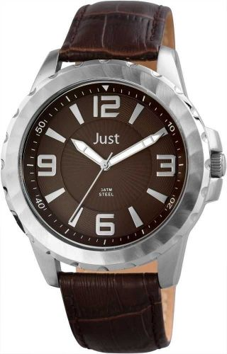 Just Herrenuhr Braun Silber 48 - S9312 - Br Uhr Armbanduhr Lederarmband Bild