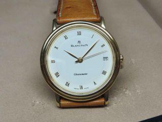 Blancpain Chronometer 18k/750 Gold Villeret Extraflach Limitiert,  Box Ungetragen Bild