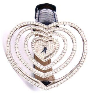 Uhr Chopard 18kt Weißgold Diamant Quartz Herz Armband 13/7172 Bild