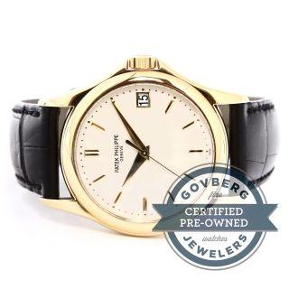 Patek Philippe Calatrava 18kt Gelbgold Automatik Uhr Silber Zifferblatt5127j - 001 Bild