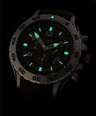 Nagelneu Nautica N14555g Blau Kautscuk Armbanduhr Multi - Function - Stoppuhr 100m Bild