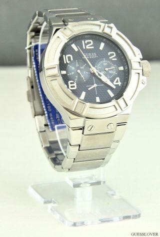 Uhr Guess Silber Leder Classic Herren Neuf U0218g2 Deu Bild