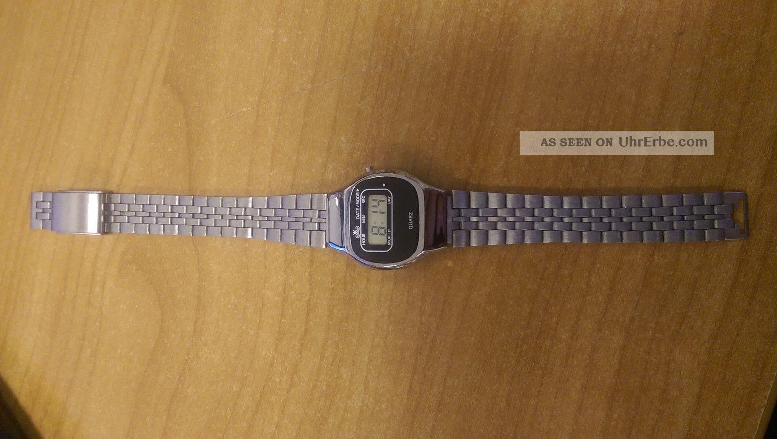 Top Rar 50 X Meister Anker Lcd Vintage Läuft Problemlos Damenuhr Armbanduhren Bild