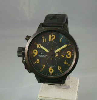 U - Boat U - 7750/55 Italo Fontana Flightdeck 55mm Cronograph,  Top Bild
