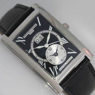 Frederique Constant Dual Time Big Date Uhr Uvp 1898€ Schwarz Bild