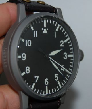 Laco Flieger B - Uhr Baumuster A 55mm Fl23883 Limitiert Limited 50st, Bild