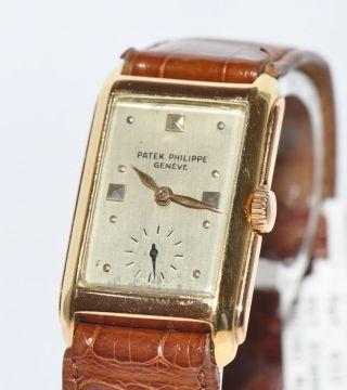 Patek Philippe Wristwatch Ref.  410 18kt Gelbgold Uhr 1934 Stammbuchauszug Bild