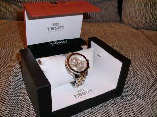 Tissot Armbanduhr Herren Edelstahl Kratzfestes Saphirglas Silber/gelb Prs200 Bild