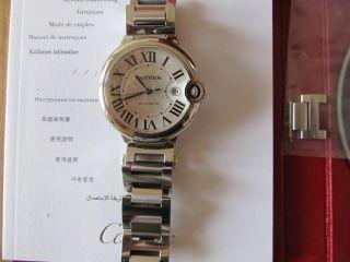 Cartier Ballon Bleu Automatik.  Herrenuhr,  Großes Modell 42mm Mit Box Und Papiere Bild