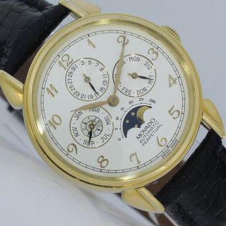 Movado 1881 Ewiger Kalender Revision 8/2014 Perpetual Gold Uhr Bild
