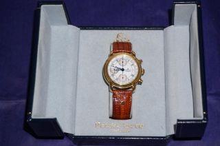Maurice Lacroix Automatic Chronograph,  Perlmutt Ziffernblatt,  Vergoldet In Ovp Bild