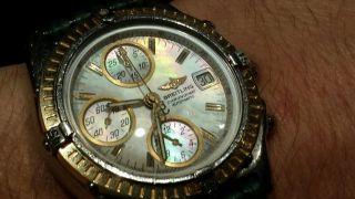 Breitling Chronomat Gt Chronograph Gold/stahl Automatik Perlmutt Bild
