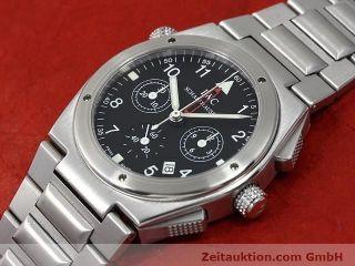 Iwc Schaffhausen Ingenieur Flieger Chronograph Alarm Wecker Stahl Ref 3805 Bild