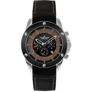 Jacques Lemans Liverpool Wood 1 - 1690a Chronograph Armbanduhr Uhr Bild