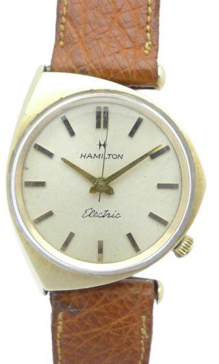 Hamilton Electric DoublÈ Herren - Armbanduhr - Futurisches Design - Ca.  50er Jahren Bild