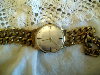 Alte Junghans Herren Armbanduhr Mit Datumsanzeige.  Handaufzug Bild