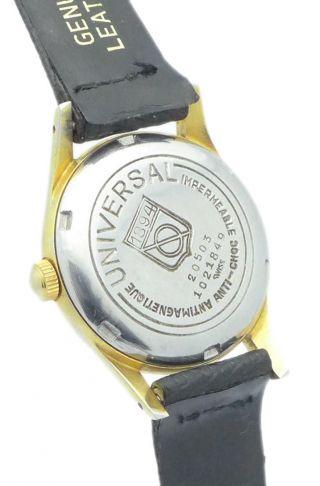 Universal DoublÈ Herren - Armbanduhruhr - Aus Den 1950er Jahren - Mit Zentralsekunde Bild