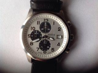 Herren Armbanduhr Von Boccia Mit Lederarmband. Bild