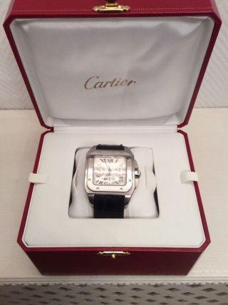Cartier Santos Chronograph 100xl Mit Box Und Papieren Bild