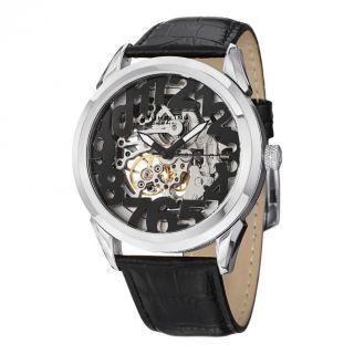 Herren Armbanduhr Stuhrling Klassik Rosenkranz Display Automatik Leder 912 01 Bild