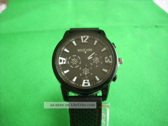 Elegante Herrenuhr Im Military Style Xxl Chronolook Armbanduhren Bild