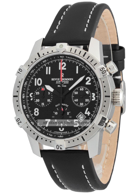 Revue Thommen Airspeed Xlarge Commander Chronograph 16055.  6537 Armbanduhren Bild