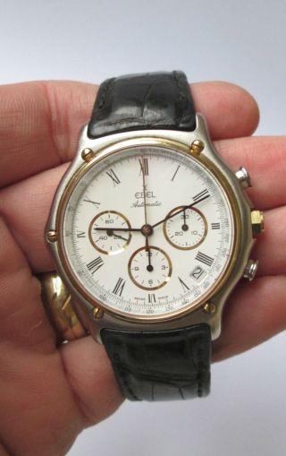 Armbanduhr Uhr Ebel Chronograph Automatic 1065 Spangenarmband Bild