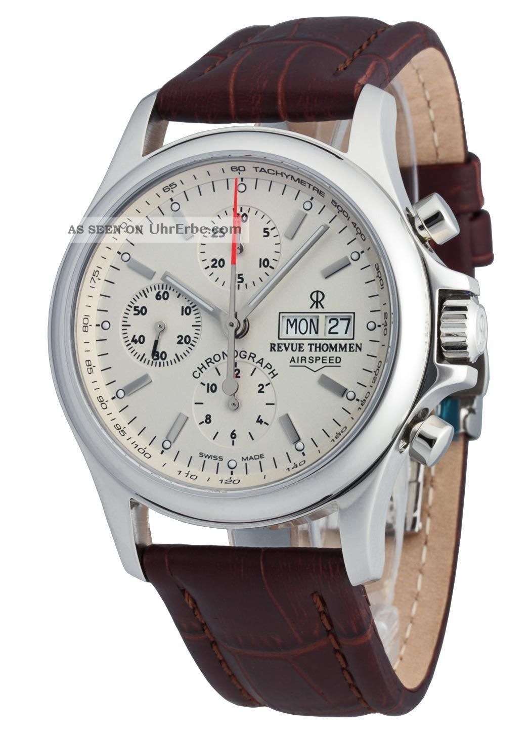 Revue Thommen Airspeed Automatic Chronograph Day Date 17081.  6532 Armbanduhren Bild