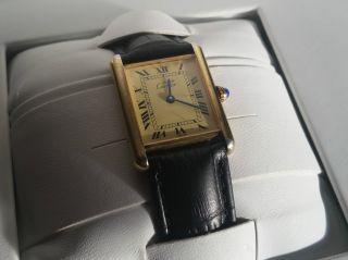 Cartier Tank Vermeil Armbanduhr Bild