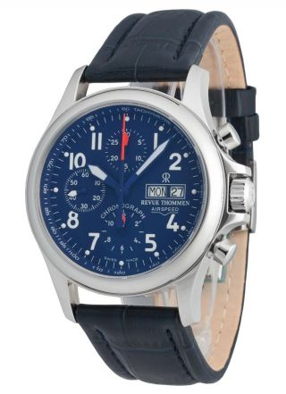 Revue Thommen Airspeed Automatic Day Date Chronograph 17081.  6539 Bild
