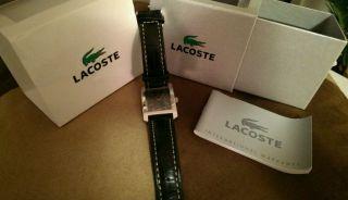 Lacoste Herren Armbanduhr Uhr Watch Schwarz Leder Business Bild