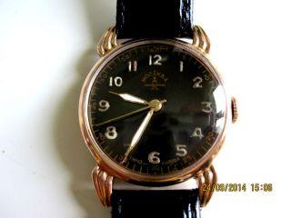 Armbanduhr Poljot Kirova 583 Rotgold Massiv Goldgehäuse Moskva Handaufzug 1mchz Bild