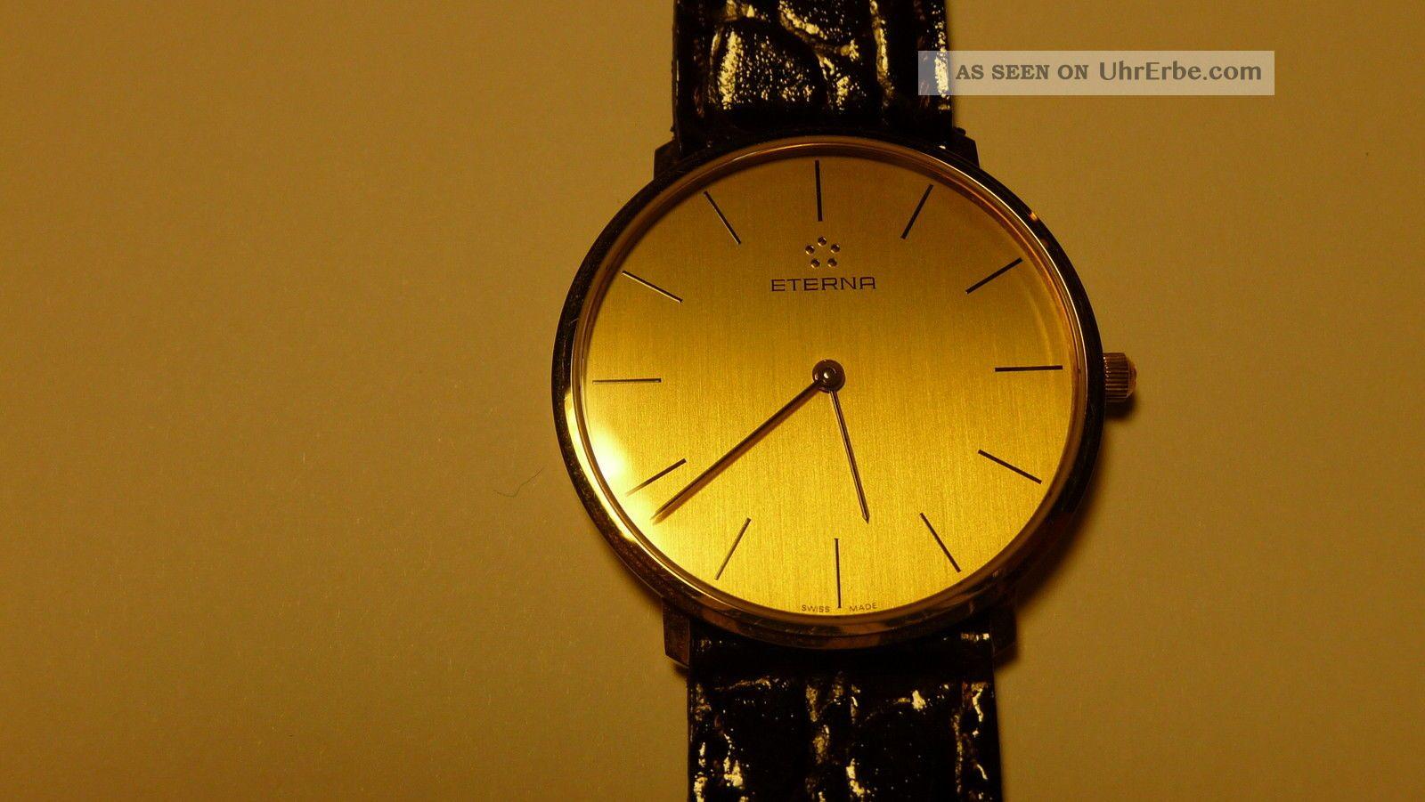 Eterna Quarz 14 Kt.  585 Gelbgold 4000.  65.  20 Brac.  1076 Armbanduhren Bild