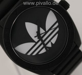 Adidas Santiago Herrenuhr / Herren Silikon Schwarz Weiß Adh6167 Bild
