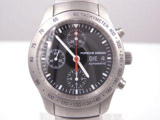 Porsche Design P10 Chronograph Eterna Herrenuhr Automatik Ref 6605.  41 Edelstahl Bild