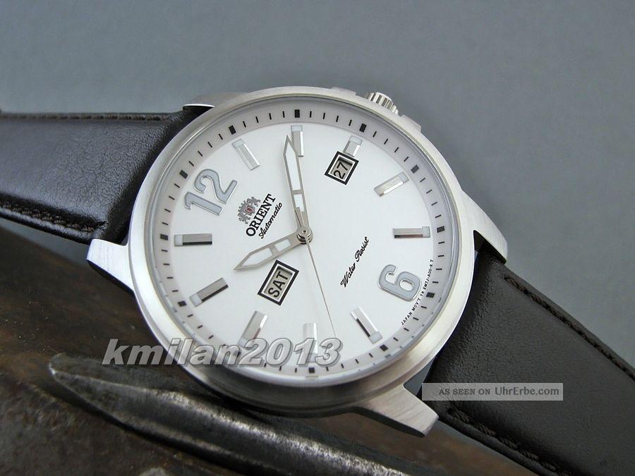Orient Starfish Uhr Automatik Herrenuhr Tag&datum Leder Fem7j00aw9,  Fem7j00bb9 Armbanduhren Bild