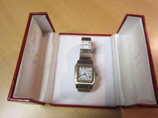 Cartier Santos - Stahl/gold,  Große Ausführung,  Mit Box Bild