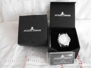 Jacques Lemans Uhr Armbanduhr Unisex Quarz Edelstahl Chronograph Automatic Leder Bild