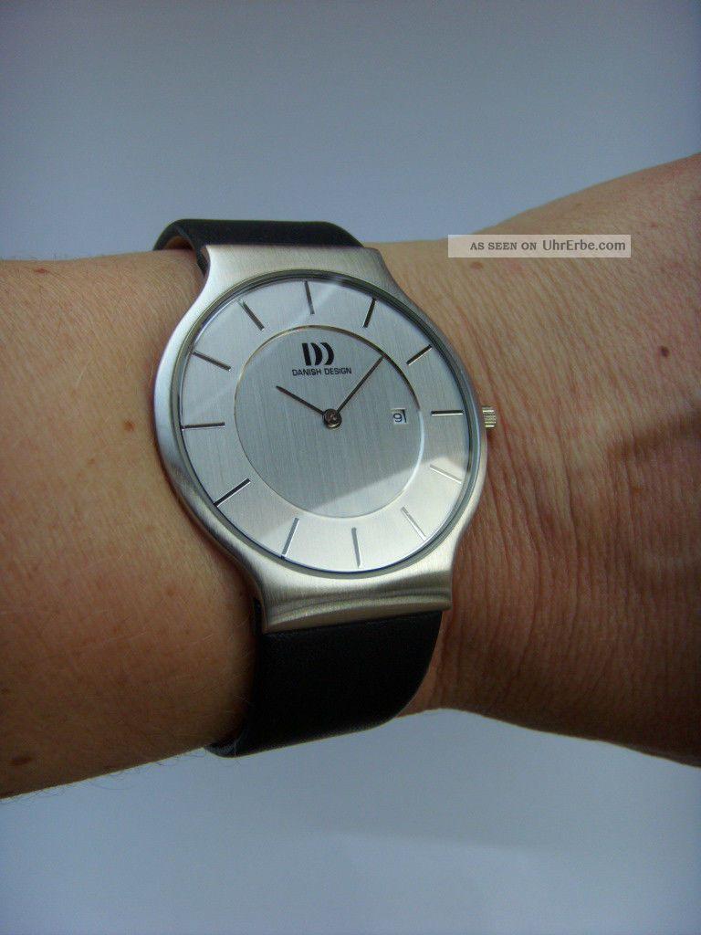 Herrenuhr Uhr Danish Design 3314371 Lederband Dänisches Design Iq12q732 Datum Armbanduhren Bild