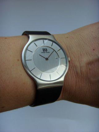 Herrenuhr Uhr Danish Design 3314371 Lederband Dänisches Design Iq12q732 Datum Bild