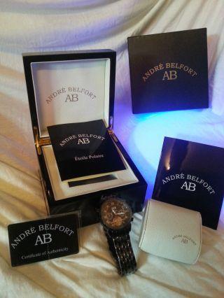 André Belfort Étoile Polaire Ip Schwarz Uhr Herren Bild