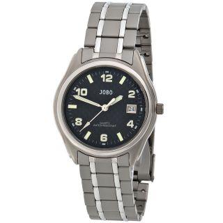 Jobo Herrenuhr Titan Herrenarmbanduhr Uhr Quarz - Analog Armbanduhr J - 37308 Bild